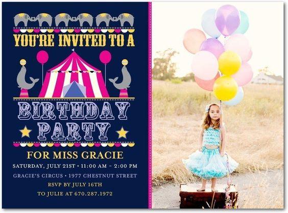 Circus Birthday Party Invite