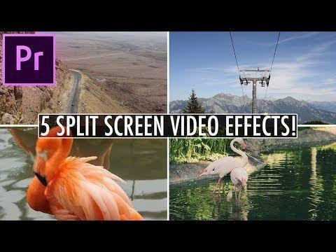 5 Awesome Split Screen Video Effects In Adobe Premiere Pro Cc Tutorial Youtube Premiere Pro Tutorials Video Effects Adobe Premiere Pro