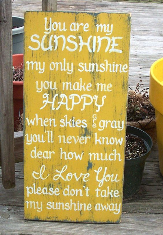 Would look awesome on a gray wall!  You are my Sunshine SIGN Subway Distressed by WeHaveAGreatNotion,