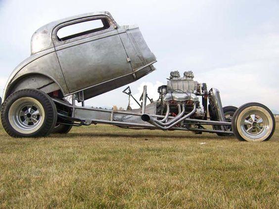 Steel 34 Funny Car  Blown 409 Chev