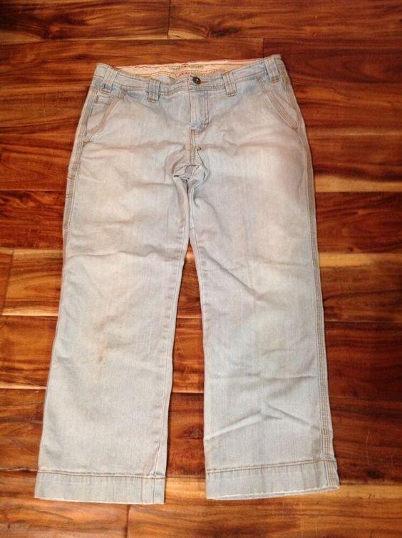 Women S Tommy Hilfiger Jeans Low Rise Light Blue Size 8 Tommyhilfiger Wideleg Tommy Hilfiger Jeans Cropped Denim Pants Denim Women