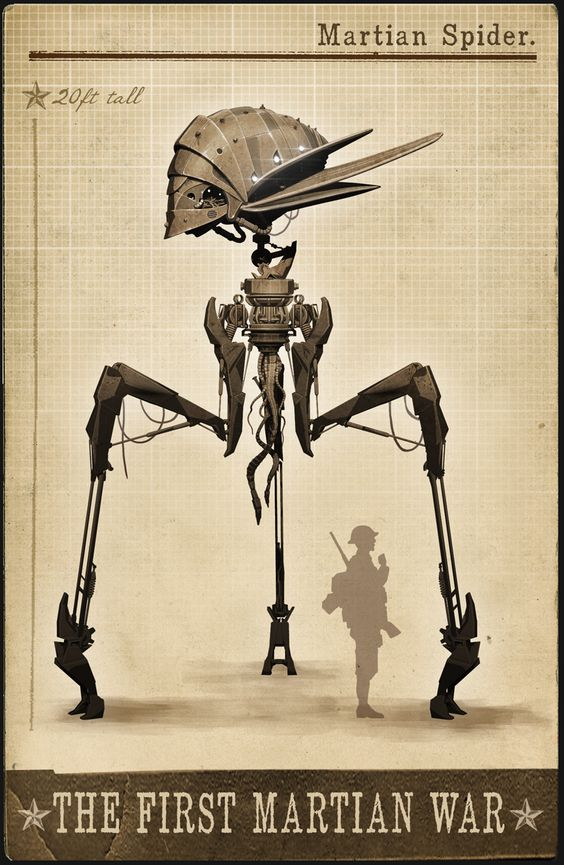 Great Martian War - early Spider concept design. www ...