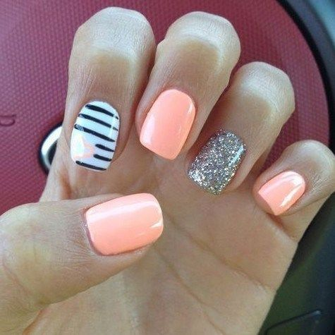 50 Must Try Summer Nail Designs For Short Nails 2019 13 Cool Nail Designs Nail Art Designs Summer Nail Art Summer