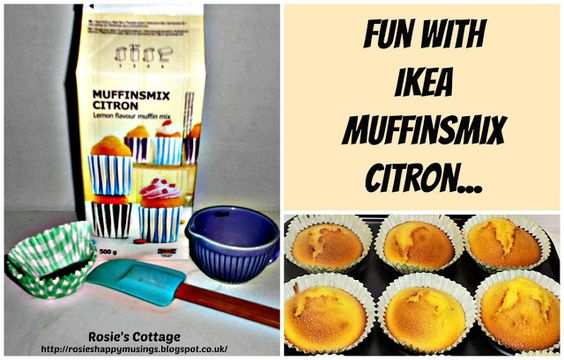 Ikea Muffinsmix Citron - yummy lemon flavoured muffins mix from Ikea <3