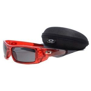 cheap oakley gascan sunglasses for sale  $16.03 on sale! cheap oakley gascan sunglasses smoky lens clear red frames hot sale on