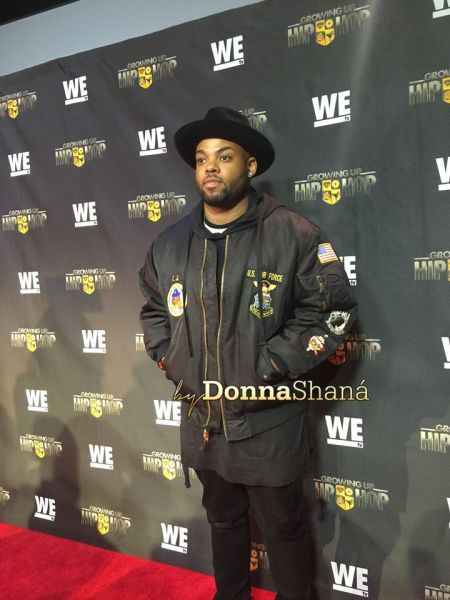 Jason Mizell Jr. Jam Master J's son at Growing Up Hip Hop Atl Premiere