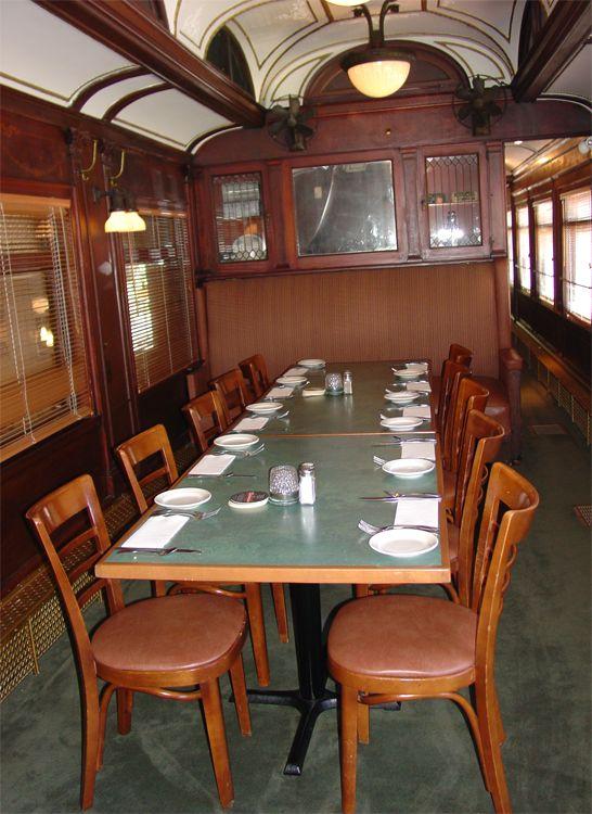 Interior Of Train Car Restored As Restaurant Vonachens Junction Peoria IL Audrey Thompson