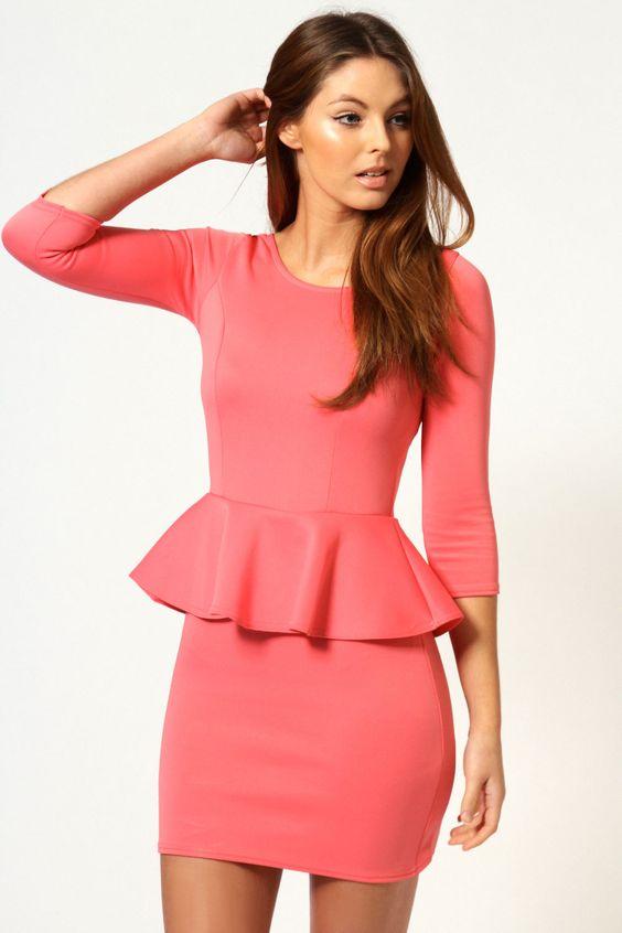 Peplum peplum dresses and sleeve on pinterest for Dress shirts for big bellies