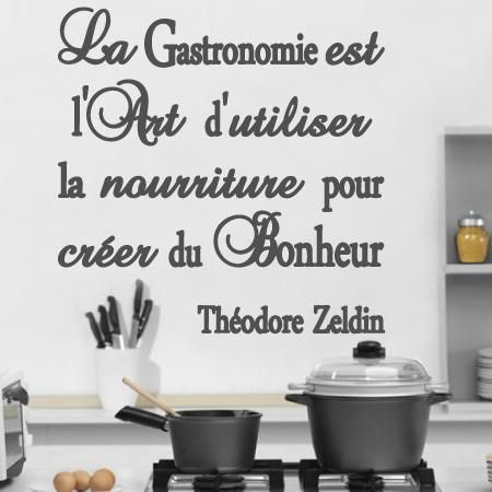 Stickers lili t stickers citation gastronomie for Stickers muraux cuisine