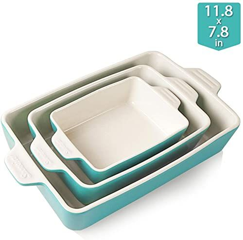 Buy Sweejar Ceramic Bakeware Set Rectangular Baking Dish Lasagna Pans Cooking Kitchen Cake Dinner Banquet Daily Use 11 8 X 7 8 X 2 75 Inches Baking Pans In 2020 Ceramic Bakeware Ceramic Bakeware Set Bakeware Set