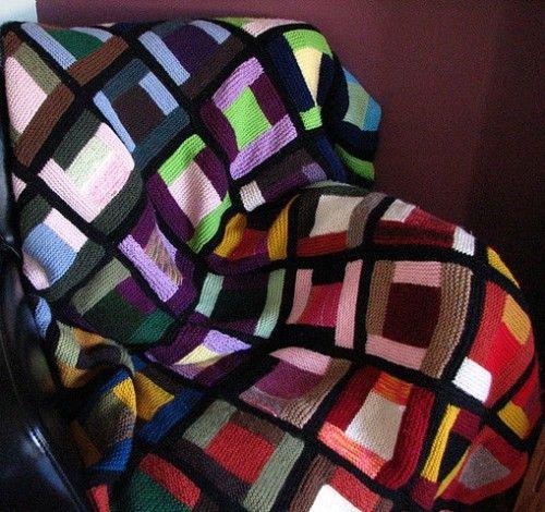 Log cabin scrap blanket free pattern knitting for Log cabin blanket