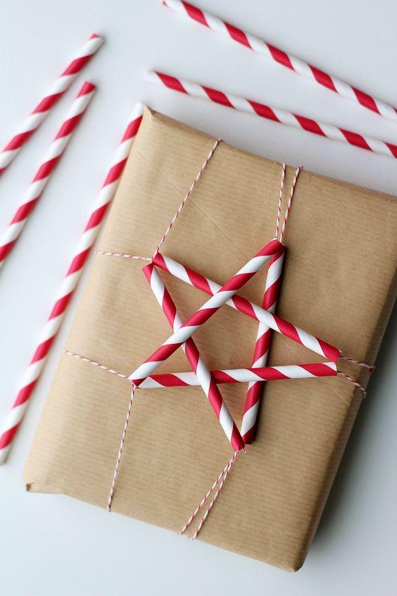 Straw Paper Wrapping Gift новогодняя упаковка подарков своими руками
