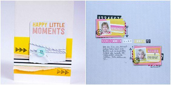 Karte und Scrapbooking Layout mit FRIDA von Janna Werner - vom Design Team der Scrapbook Werkstatt