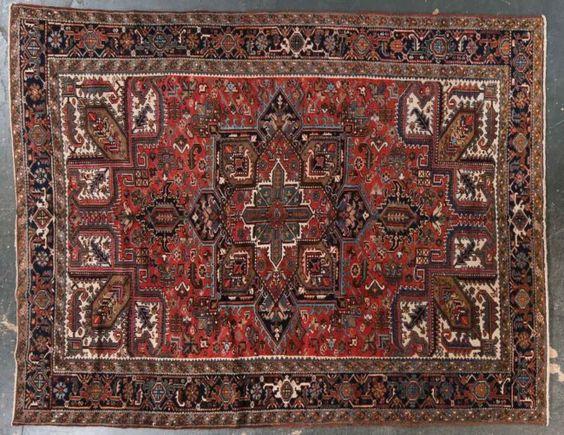 herez carpet | Semi-antique Herez carpet, approx. 9.7 x 12 : Lot 483