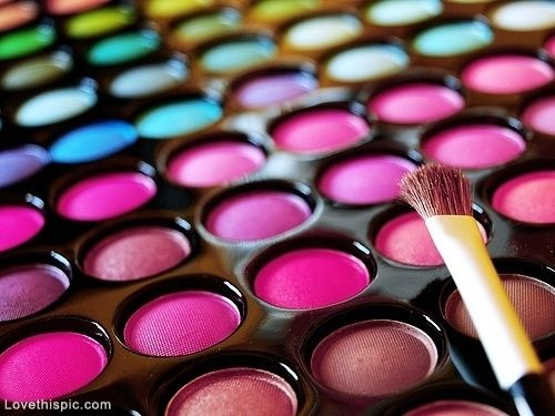 Colorful cosmetics girly colorful girl makeup pretty for Bright pretty colors