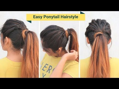 Easy High Messy Ponytail Hairstyle For School Collage Everyday Hairstyle Youtube Ponytail Hairstyles Easy Easy Bun Hairstyles Ponytail Hairstyles