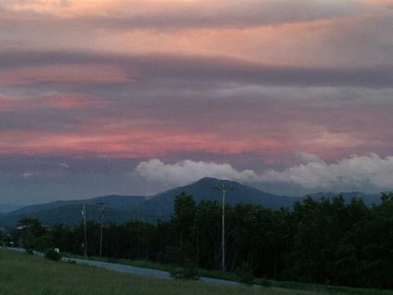 Sunset in the mountains of North Carolina :-)