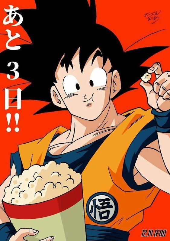 Goku Eating Popcorn Anime Dragon Ball Super Dragon Ball Goku Anime Dragon Ball