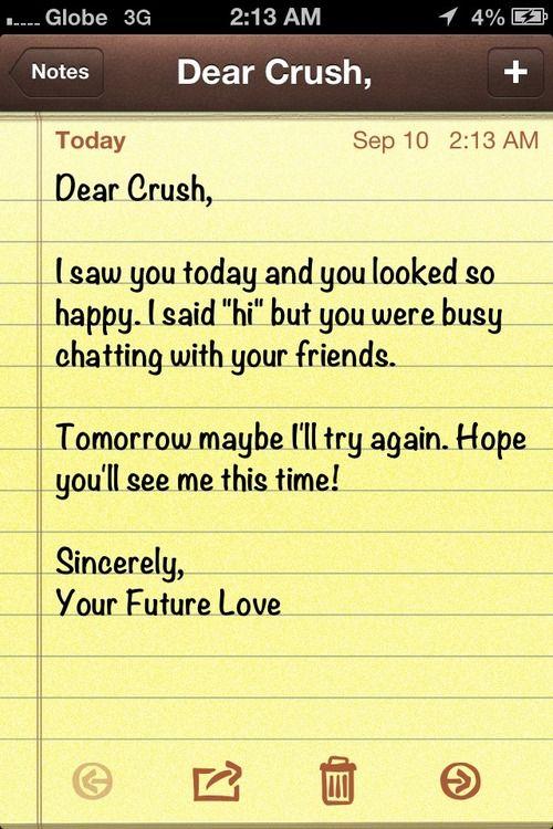 Dear Crush Dear Crush Future Love Love Quotes