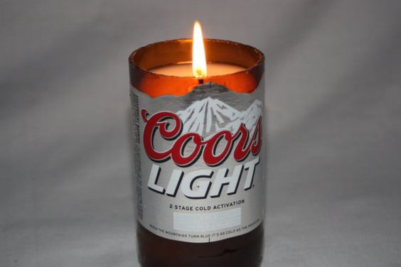 Recycled Beer Bottle  Coors Light   Candle by CountryRichCreations, $10.00