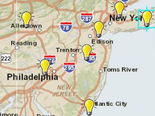 NY, NJ and area Power Outage maps http://www.esri.com/services/disaster-response/hurricanes/hurricane-sandy-user-gallery