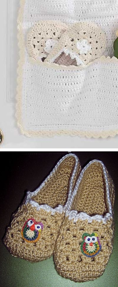 Crochet Granny Square Slipper Pattern : Patterns, Cream and Cabin on Pinterest