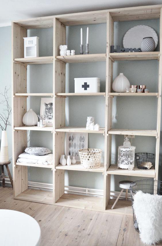 Modern wall units modern wall and bath on pinterest - Modern bookshelf wall unit ...