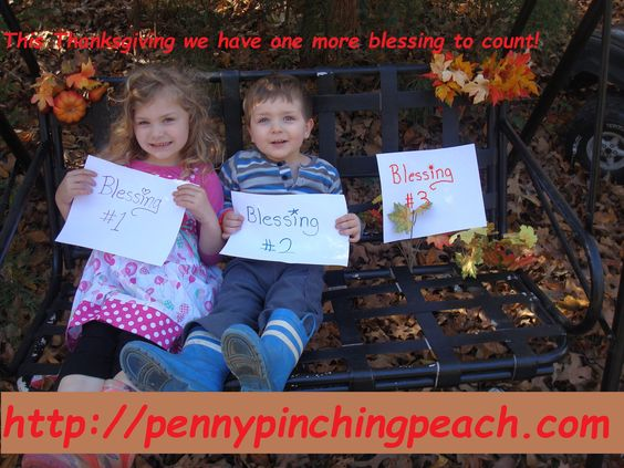Thanksgiving, fall, autumn pregnancy announcement. Our announcement for our third child, also featured on parents.com!