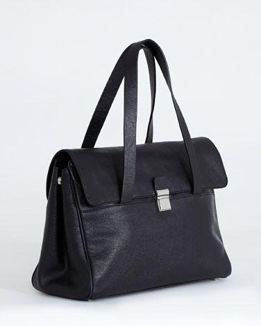 blackCarolyn Donnelly The Edit Leather Handbag