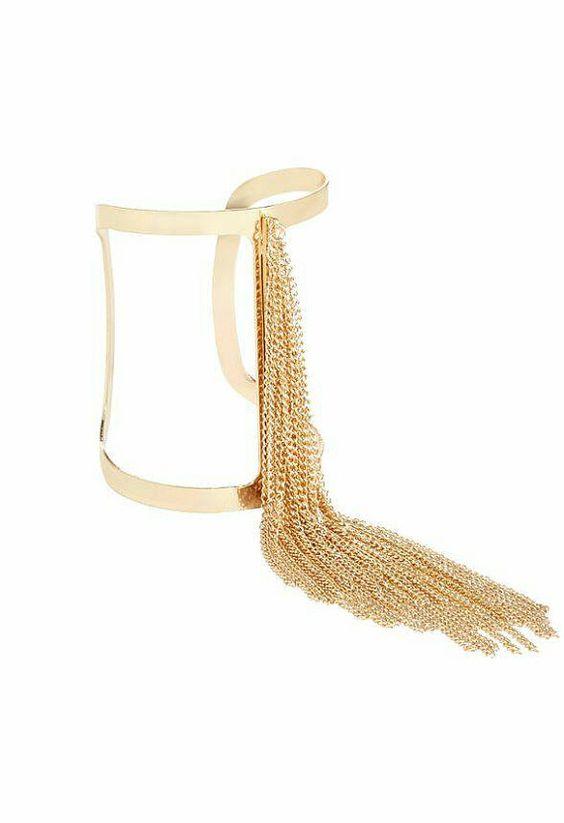 Mira este artículo en mi tienda de Etsy: https://www.etsy.com/listing/234707268/golden-finge-cufflatest-2015-trend