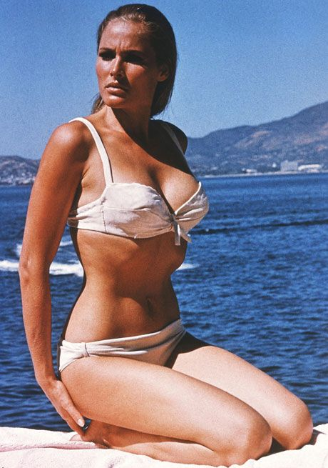 Ursula Andress as Honey Ryder in a shot without the knife-belt.