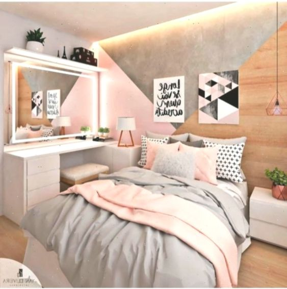 42 Chic Pink Und Grau Schlafzimmer Dekorieren Ideen Fur Madchen En