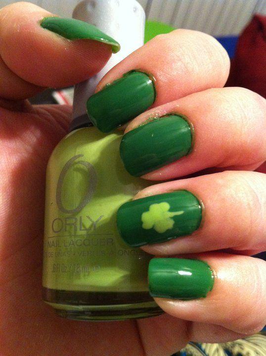 St Patrick\'s Day nails ~$~   Holidays ~ St. Patricks Day   Pinterest ...