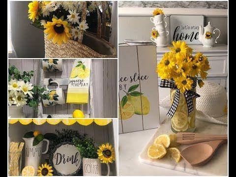 Summer Coffee Station With Summer Decor Ideas July 2019 Youtube Sunflower Kitchen Decor Lemon Kitchen Decor Sunflower Kitchen