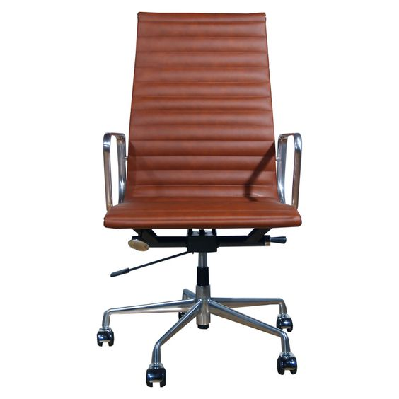 EA119 Replica Office Chair Vintage Brown. This is a chair built for comfort which also has stunning good looks. The tan colour of the leather blends well with many different colour schemes and adds a note of timeless elegance to any office or work space. From £174.99 http://www.lakeland-furniture.co.uk/ea119-vintage-brown.html