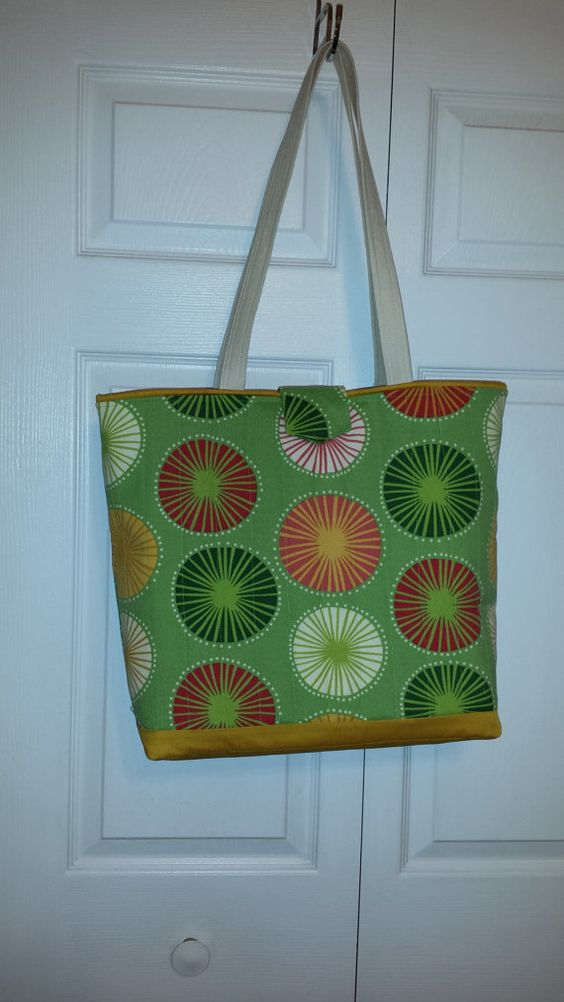 Green with Bursts of Color Tote bag by TeresaScholleDesigns