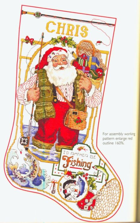 I 39 d rather be fishing page 67 donna kooler 39 s ultimate for Fish christmas stocking