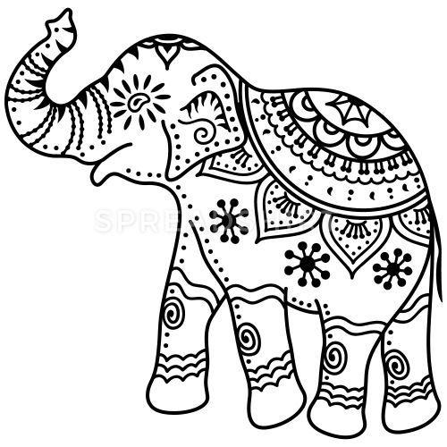 malvorlage indischer elefant  tiffanylovesbooks