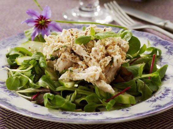Rapunzel mit Kokoshähnchensalat ist ein Rezept mit frischen Zutaten aus der Kategorie Hähnchen. Probieren Sie dieses und weitere Rezepte von EAT SMARTER!