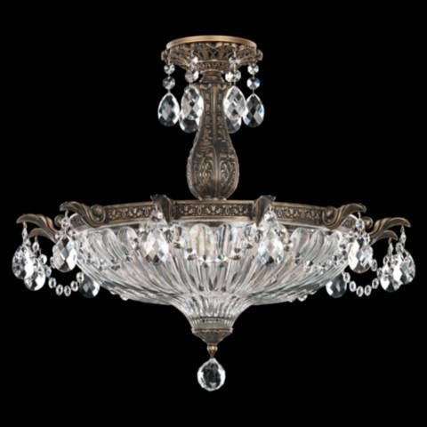 Schonbek Milano 22 1 2 W Midnight Gild Crystal Ceiling Light 14d23 Lamps Plus Schonbek Optic Crystal Crystal Ceiling Light