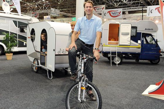 "Conceptual bike caravan from Dethleffs dubbed ""The Biker."""