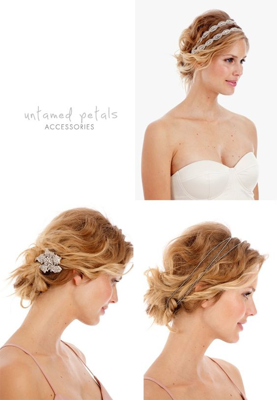 I wanted to do my hair plain, but the braided and beaded headbands are gorgeous.