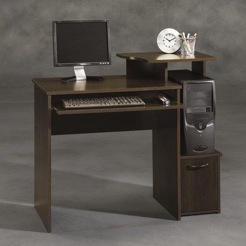 Sauder Beginnings Student Desk Cinnamon Cherry Wood Computer