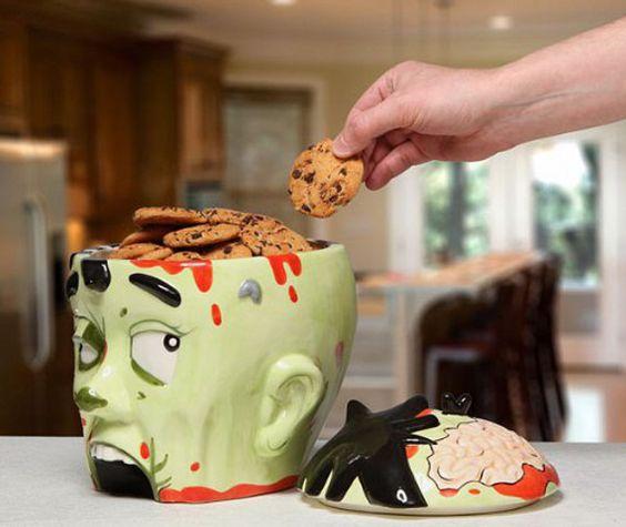 Cookies On The Brain: Zombie Cookie Jar $30