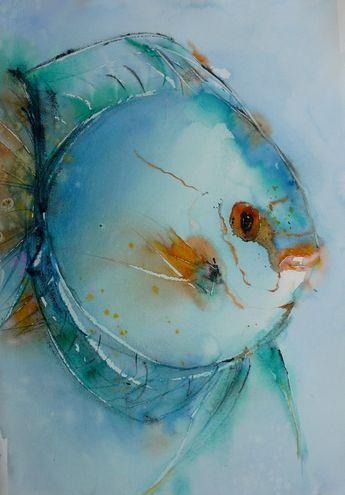 Poisson Lune Peintures De Poissons Art De Poissons Dessin Poisson