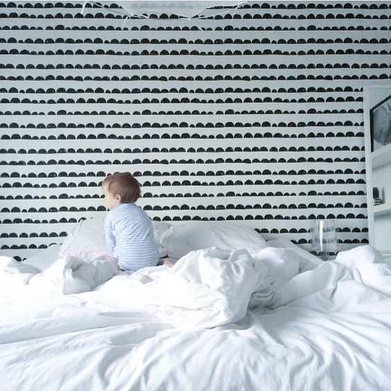 ferm LIVING Half Moon wallpaper: http://www.fermliving.com/webshop/shop/all-products/half-moon-wallpaper-black.aspx