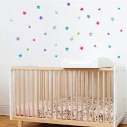 Estrellas Fucsia - Vinilos infantiles