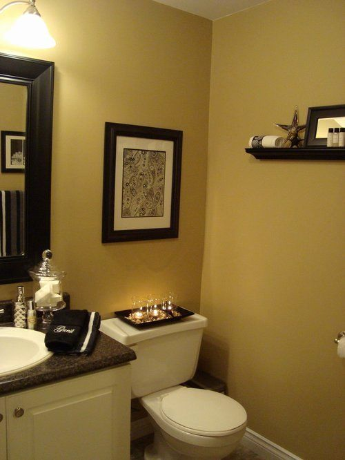 Yellow And Brown Bathroom Ideas New Half Bath Color In 2020 Brown Bathroom Decor Half Bath Decor Bathroom Decor Colors