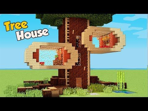 Minecraft How To Build A 4 Players Tree House Tutorial Easy