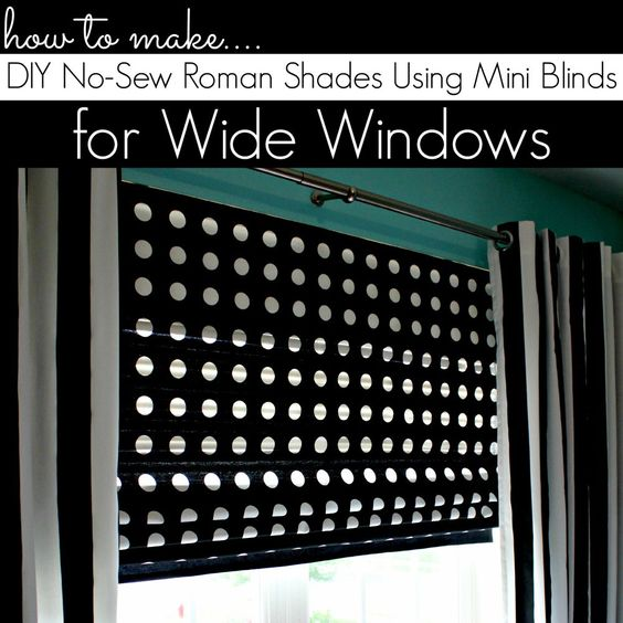 Shades roman and how to make on pinterest for Roman shades for wide windows